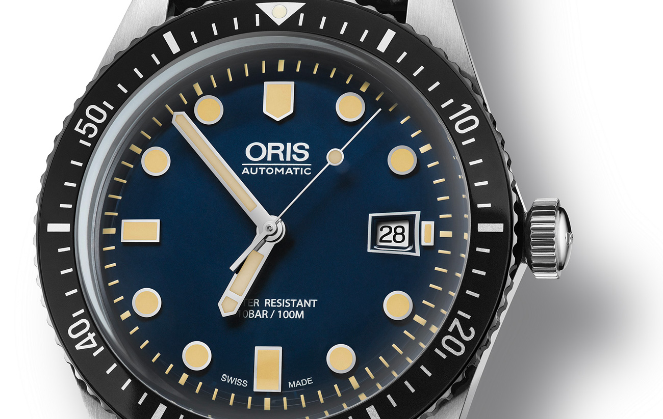 Oris Divers Sixty-Five Watch Face