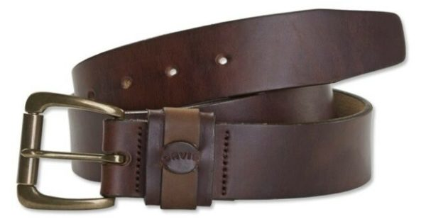 brown leather belt for men from orvis