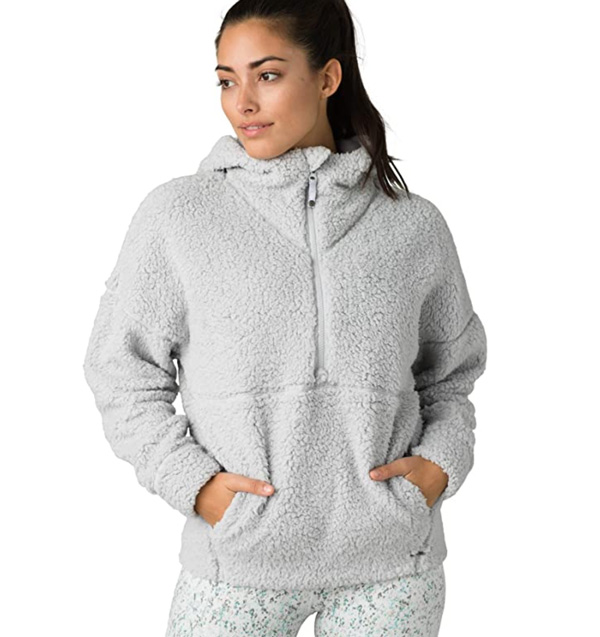 prana plush fleece sweatshirt