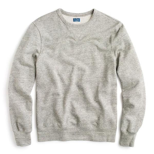 french terry gray sweatshirt