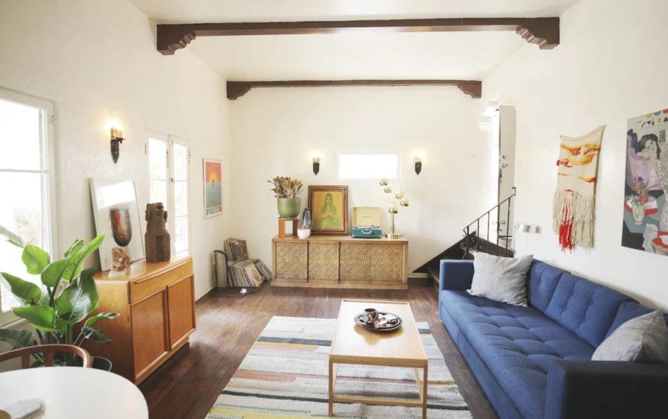 bohemian style interior decor living room
