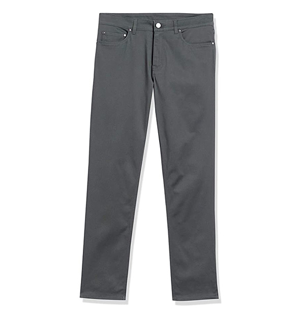 cheap gray stretch pants