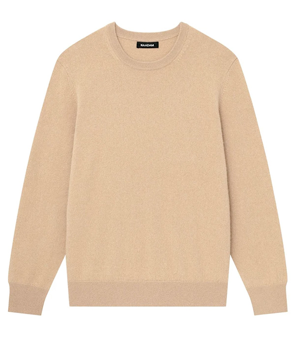 cream crewneck sweater