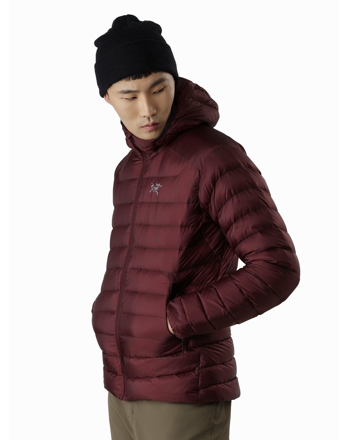 man wearing a puffer jacket from llbean