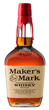 maker's mark whiskey bottle