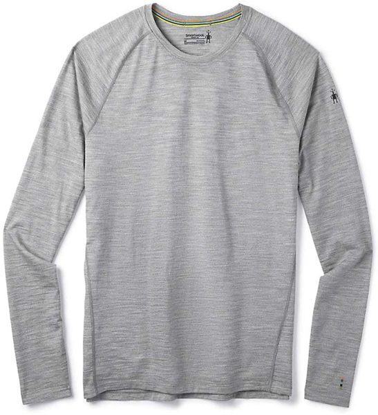 grey long sleeve merino wool shirt