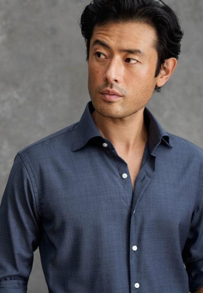 merino wool dress shirt for men