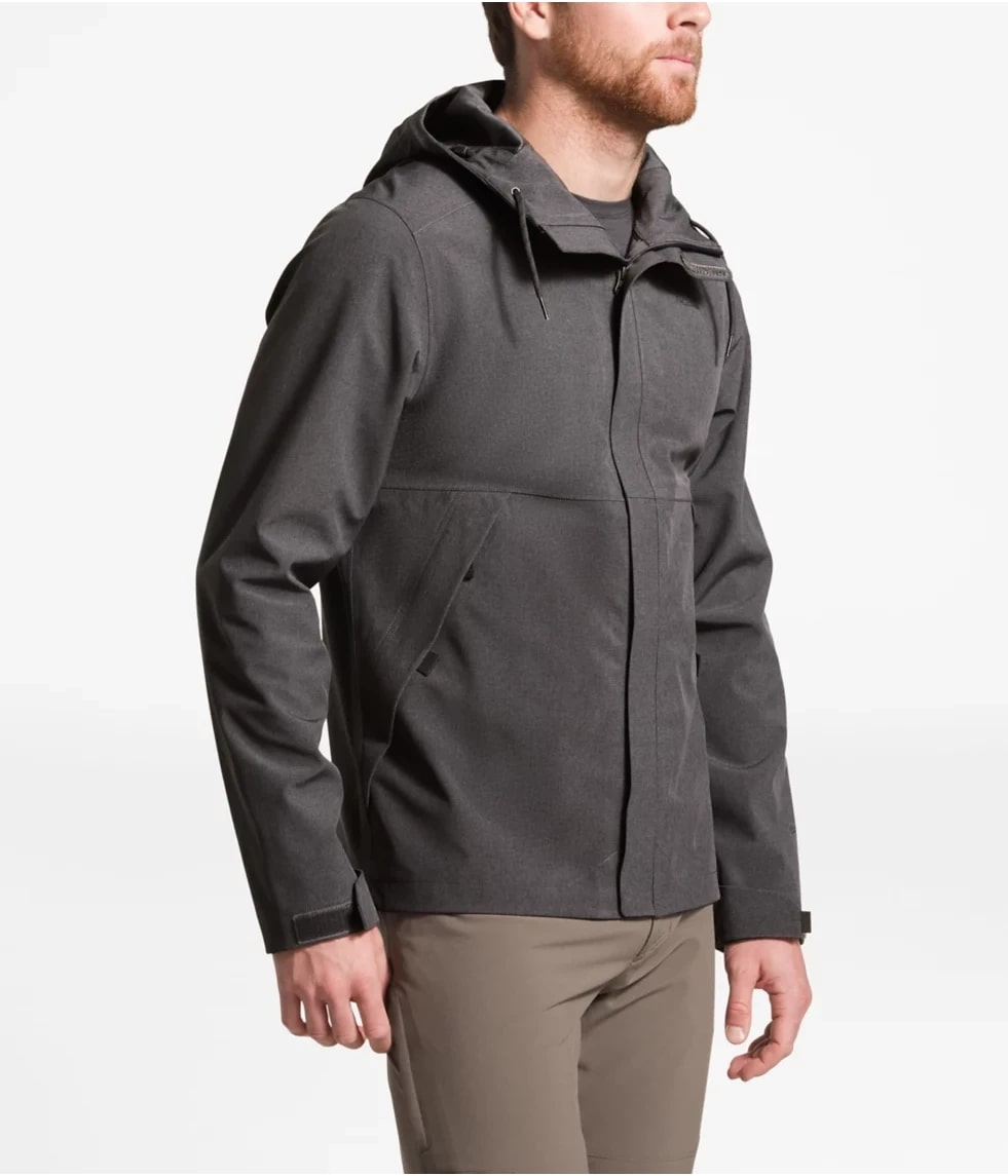 man wearing a north face technical style jacket