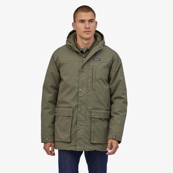 man wearing a parka style jacket