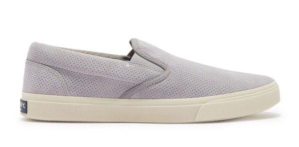 sperry plushwave grey slip on sneaker shoe