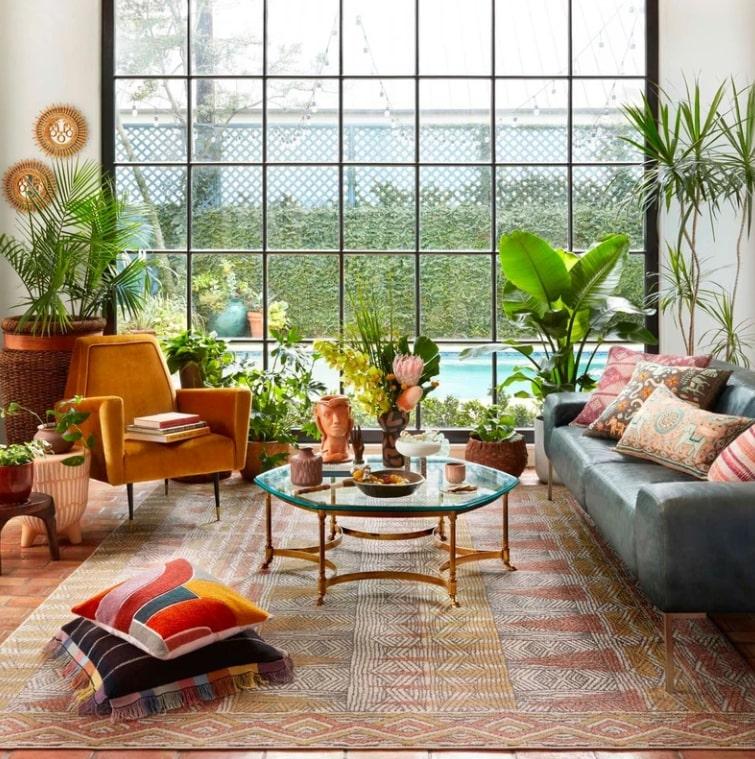 jungle theme interior decor living room
