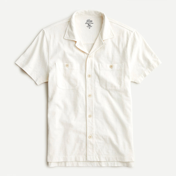 jcrew camp collar shirt