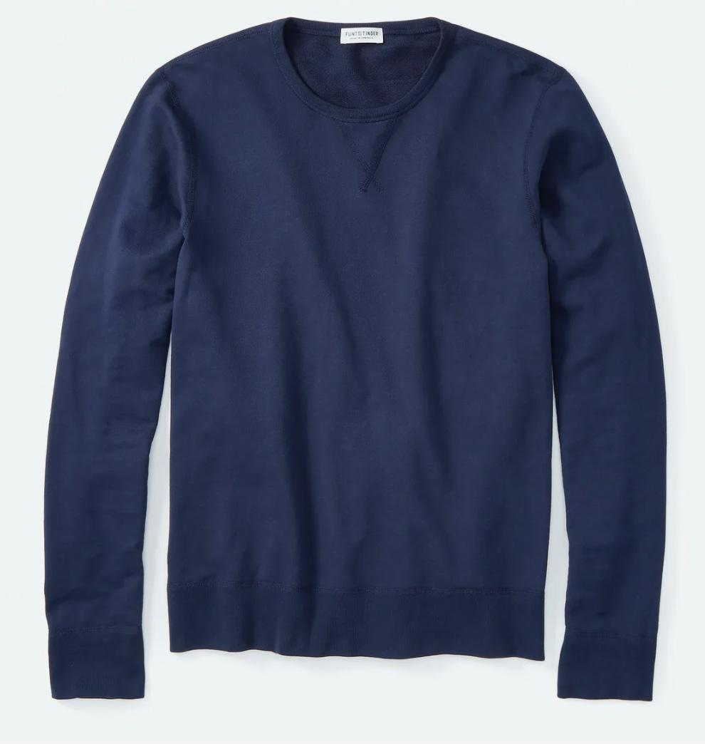 flint and tinder blue sweatshirt
