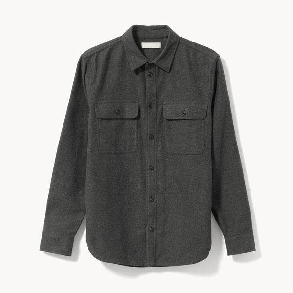 gray shirt jacket