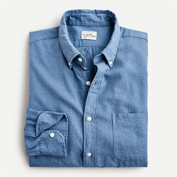 Blue long sleeve button up from jcrew