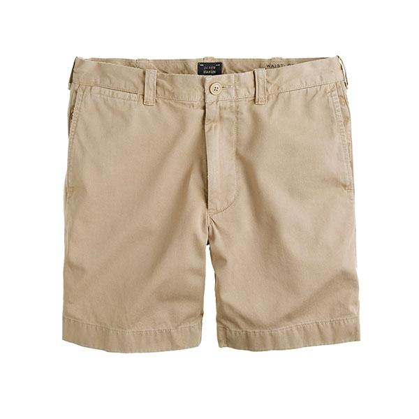 tan 7 inch shorts
