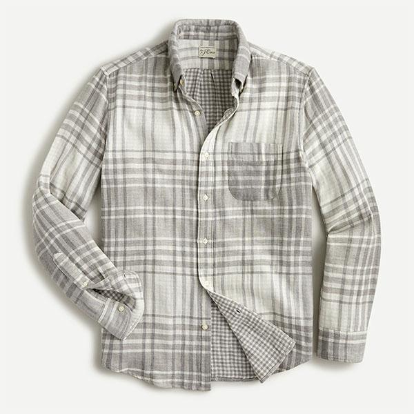 j.crew gray plaid shirt