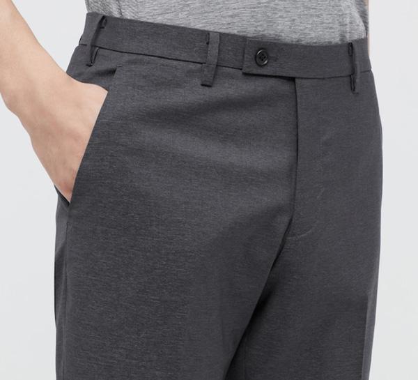 uniqlo grey ultra light pants for men