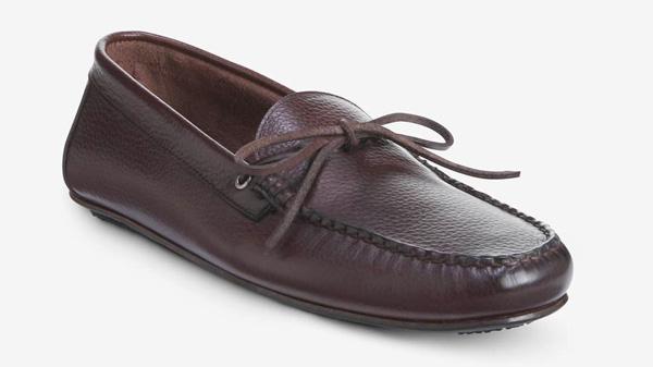 allen edmonds leather slip on loafer shoes for men