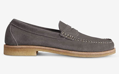 suede penny loafer shoes from allen edmonds