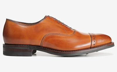 allen edmonds cap toe oxford shoe with rubber sole