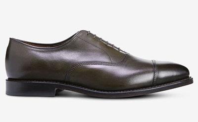 dark brown cap toe oxford shoe for men from allen edmonds