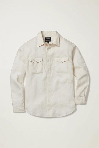 bonobos white washed long sleeve linen shirt