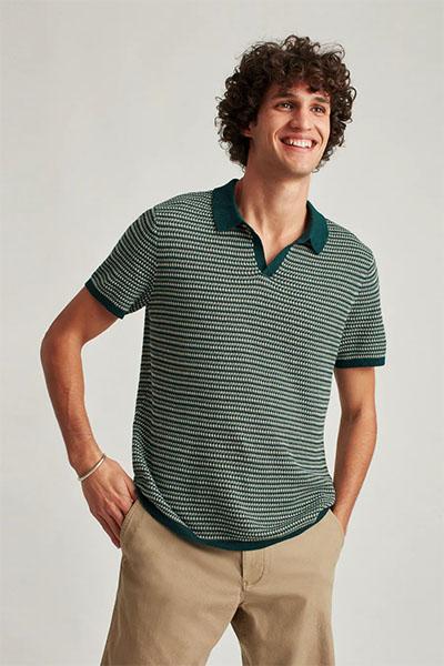 bonobos short sleeve sweater polo shirt