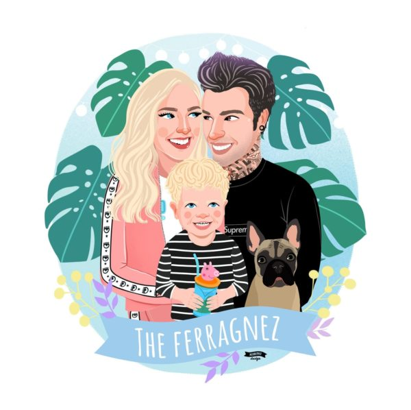 custom family portrait illustration art
