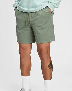 green mens shorts from gap