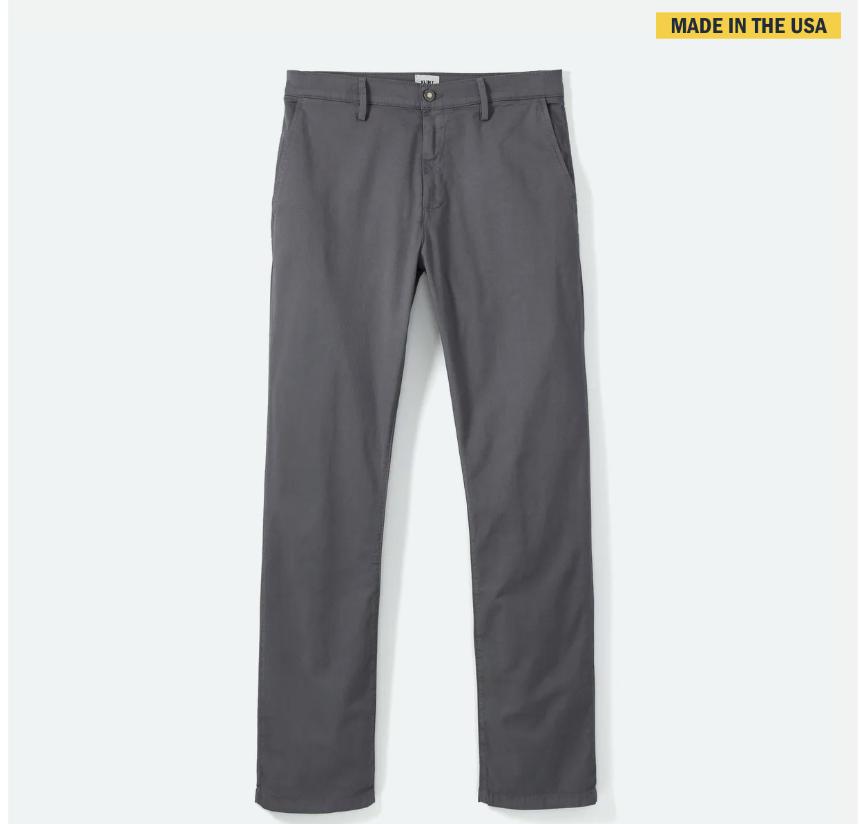lightweight grey stretch chinos from huckberry