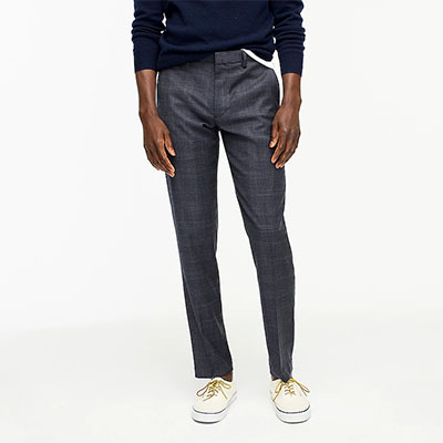 slim fit wool dress pants for men
