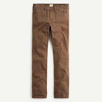 slim fit five pocket pants for men