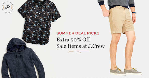 Summer Deal Picks: Extra 50% Off Sale Items at J.Crew