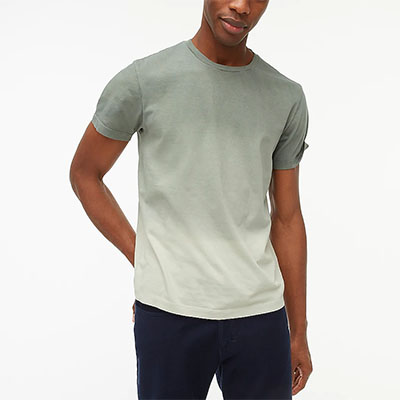 ombre dyed short sleeve shirt