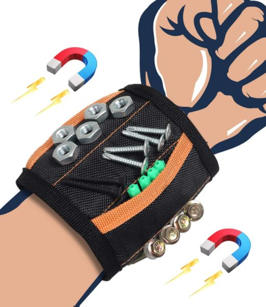 magnetic wristband for tools