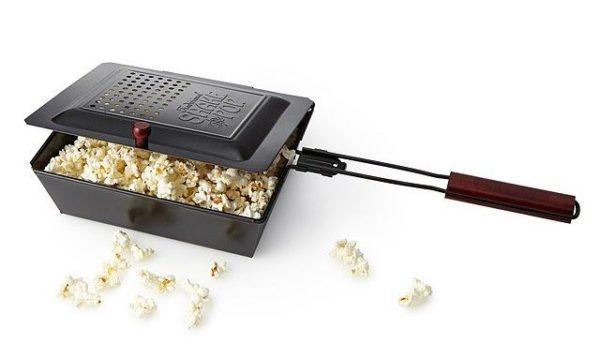 outdoor campfire or grill popcorn maker