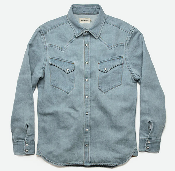 taylor stitch denim shirt
