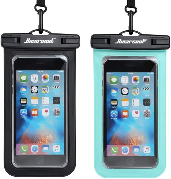 waterproof phone pouch set of two