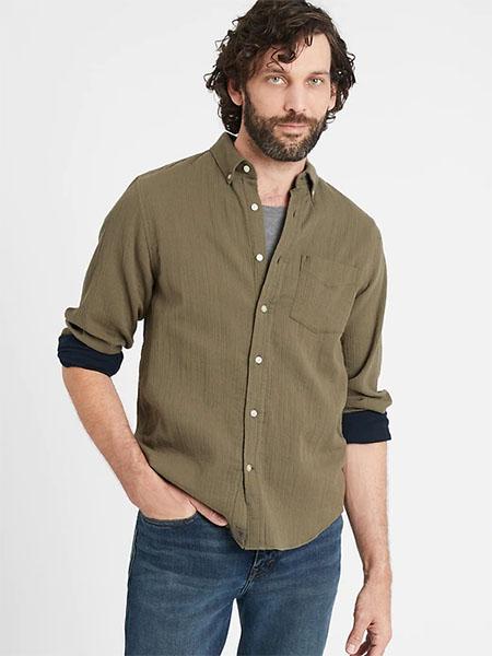 green long sleeve button up shirt