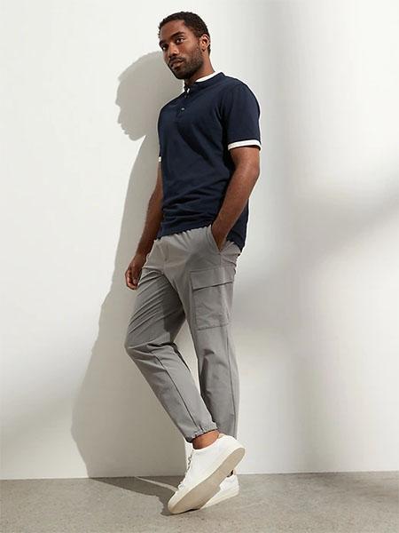 grey cargo jogger pants