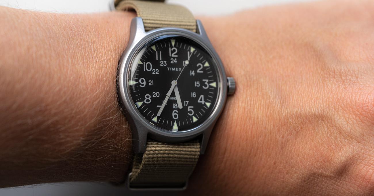 Timex MK1 on wrist size- Best Watches Under $200