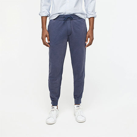 blue french terry jogger pants