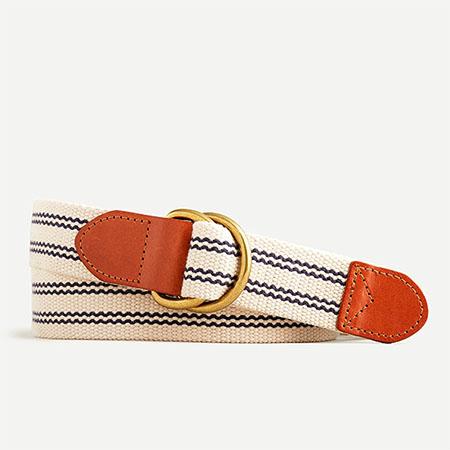 D ring cotton belt