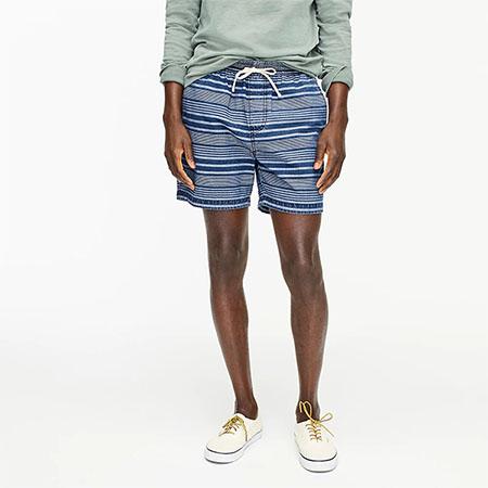 blue strip dock shorts