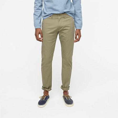 khaki slim fit chino pants