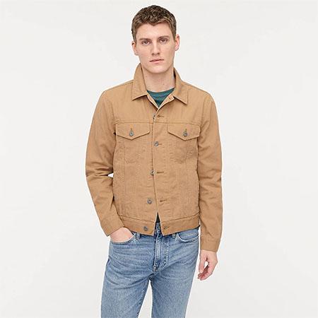 khaki duck canvas jacket
