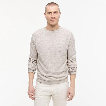long sleeve linen cotton sweater