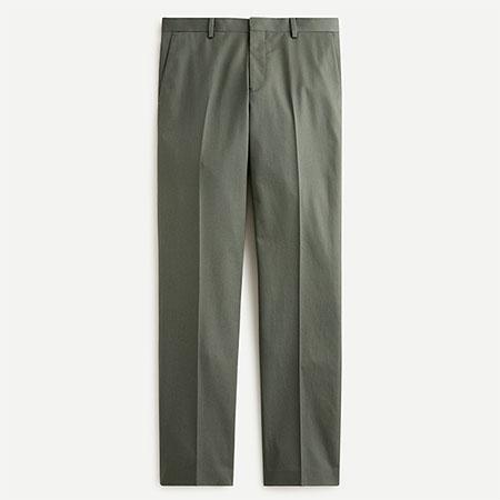 dark green italian chino suit pants