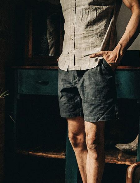 dark blue trail shorts